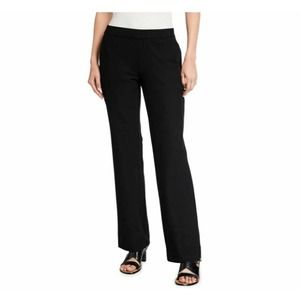 Eileen Fisher Wool Knit Ankle Pants Black Pull On